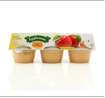 Collation aux pommes non sucrée biologique