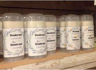 Déodorant artisanal 100% naturel